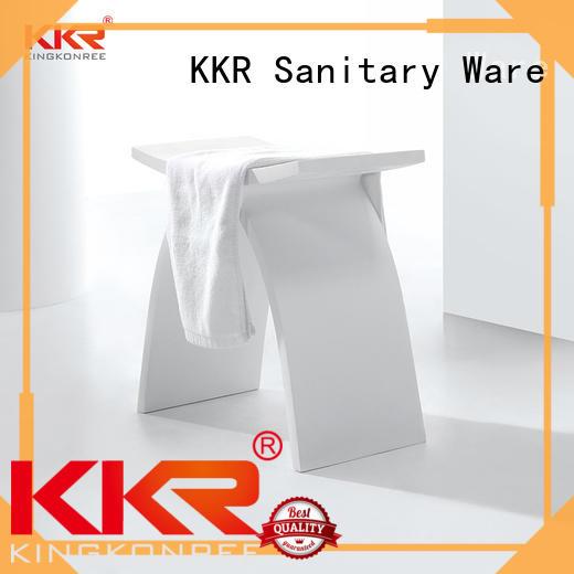 kinds decorative shower bench color for home KingKonree