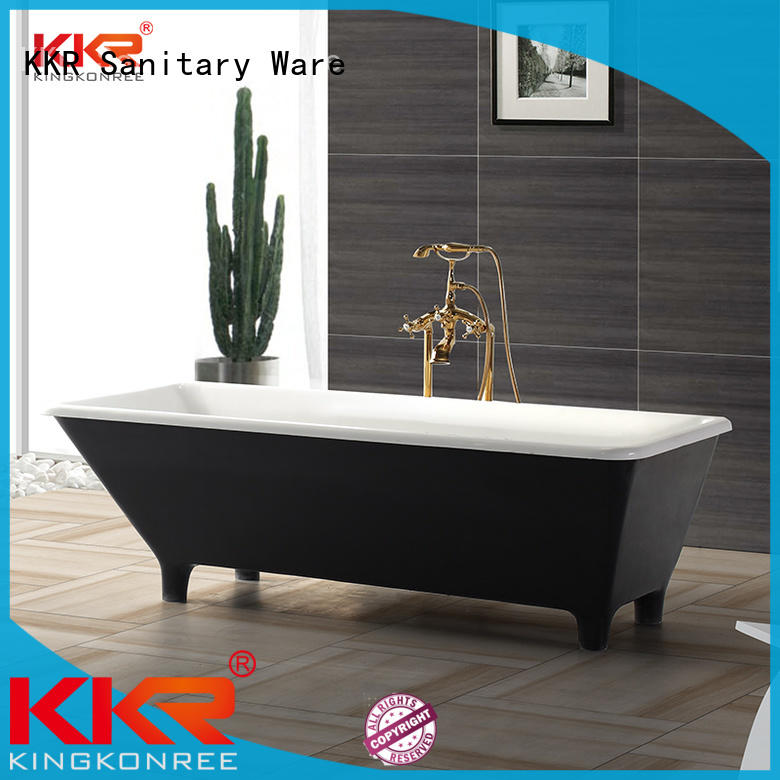 marble stone resin freestanding bath standard KingKonree