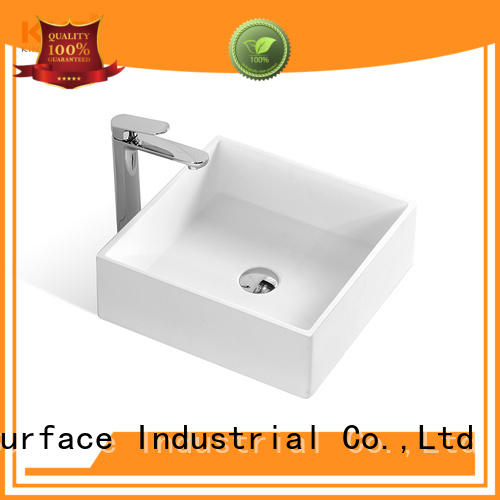 round above counter basin sanitary ware for hotel KingKonree