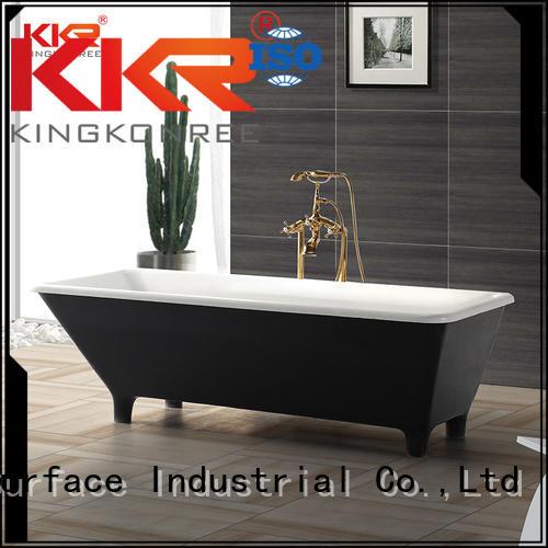 KingKonree Brand polymarble freestanding Solid Surface Freestanding Bathtub surface supplier