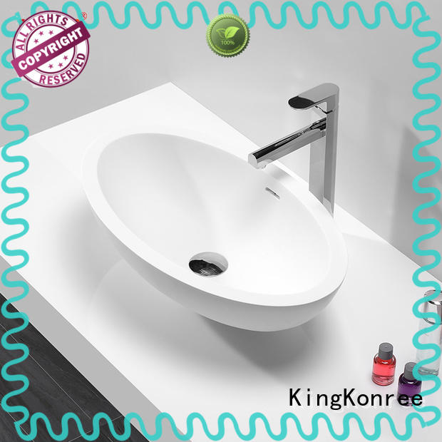KingKonree marble above counter vessel sink at discount for restaurant