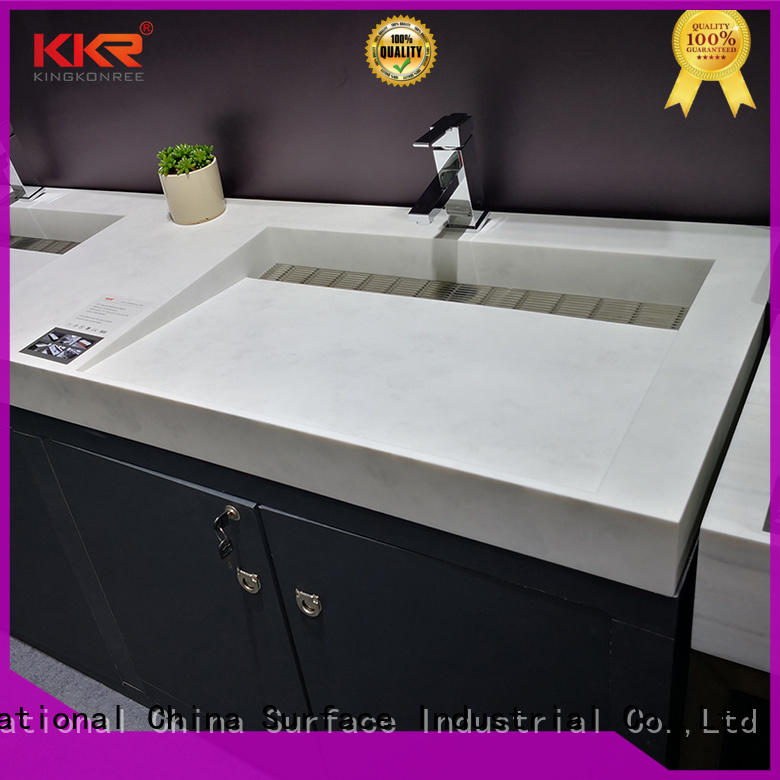 KingKonree smooth wash basin with cabinet online sinks for bathroom