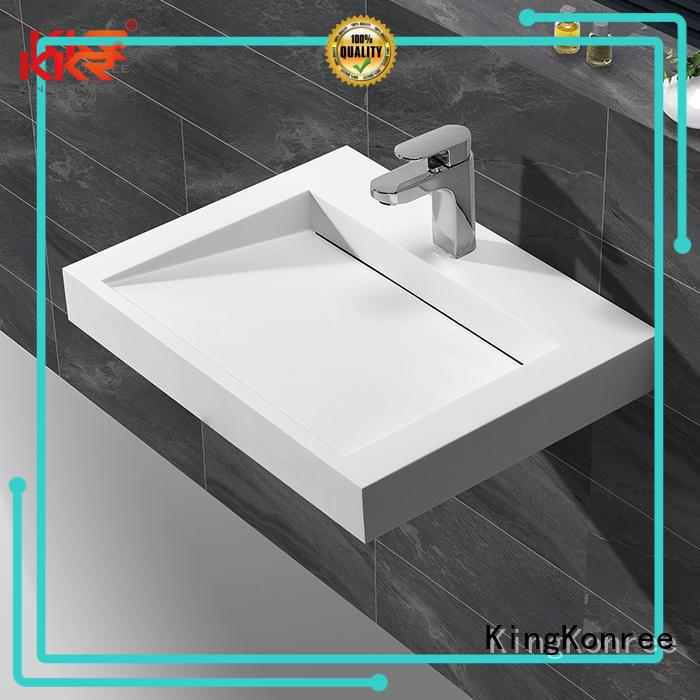 size unique mount wall mounted wash basins small KingKonree