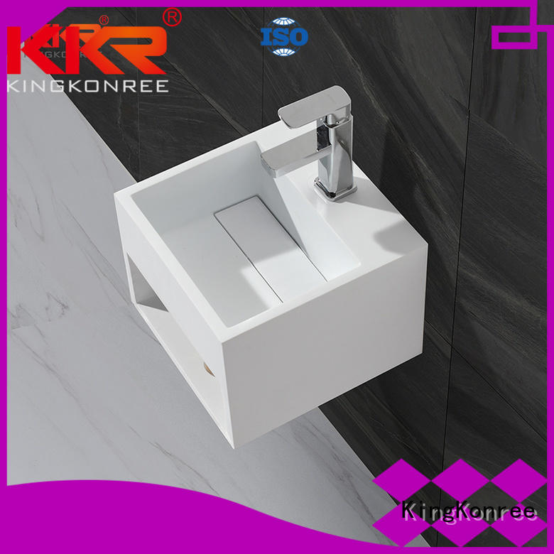 wall mounted bathroom basin basin solid unique KingKonree Brand company