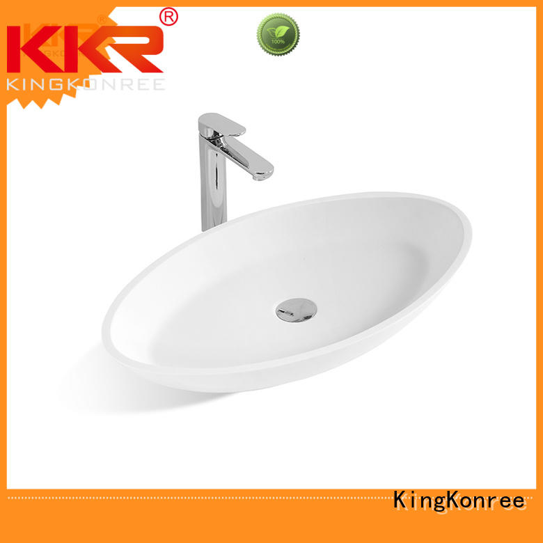 sanitary ware square above counter bathroom sink resin for home KingKonree