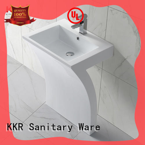 artificial free standing bathroom sink vanity customized for motel KingKonree