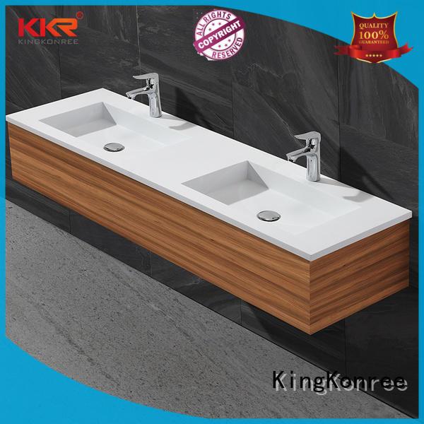 white corner basin and cabinet manufacturer for hotel KingKonree
