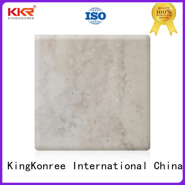 KingKonree resin solid surface sheets prices design for hotel