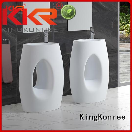quality surface KingKonree Brand bathroom free standing basins