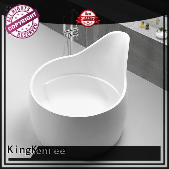 marble lightweight freestanding bathtub black KingKonree