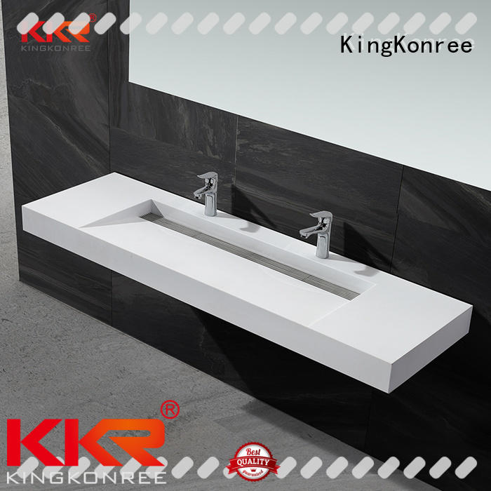 KingKonree mounted wall hanging wash basin bathware for bathroom
