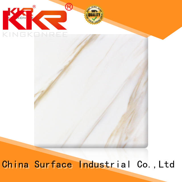 acrylic solid surface sheet prices white for indoors KingKonree