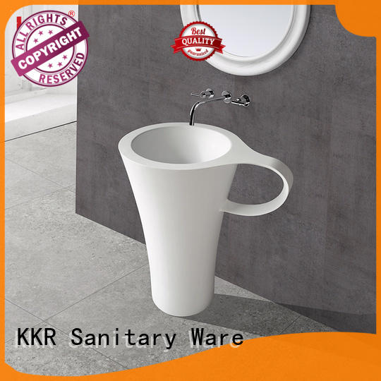 KingKonree solid surface wash basin highly-rated for bathroom
