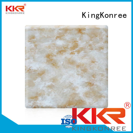 KingKonree Brand marble surface solid acrylic sheet solid supplier
