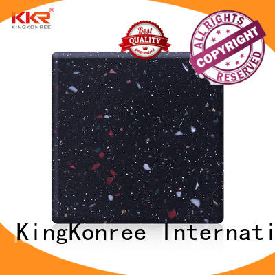 KingKonree plain solid surface countertop material manufacturer for home