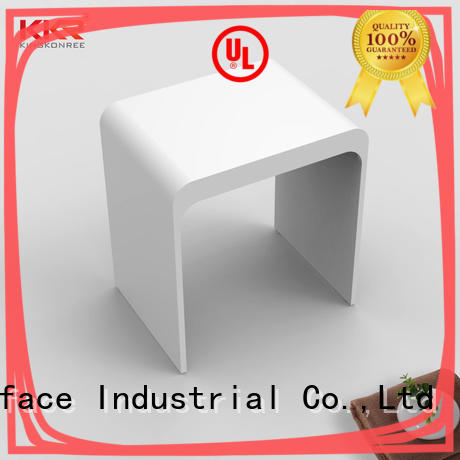 Sanitary Ware Solid Surface Acrylic Stone Bathroom Stool KKR-Stool-H
