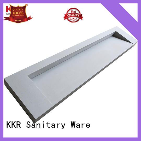 KingKonree acrylic solid surface bathroom countertops customized for bathroom