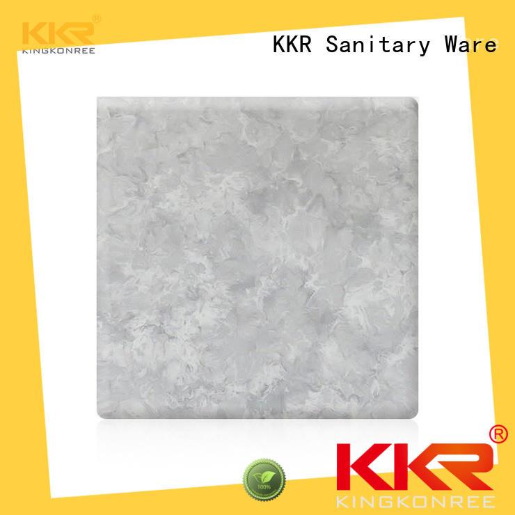 KingKonree popular acrylic solid surface grey for hotel
