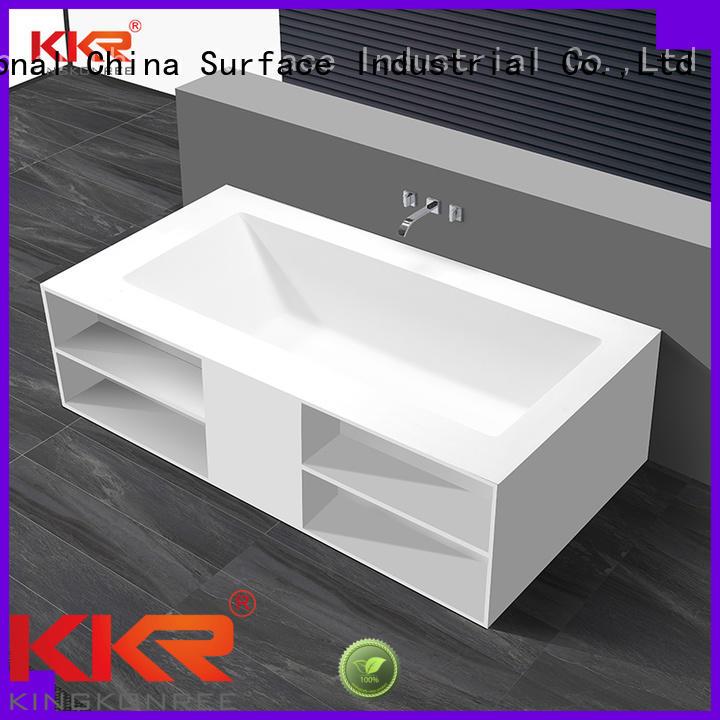 afrtificial big ware OEM solid surface bathtub KingKonree