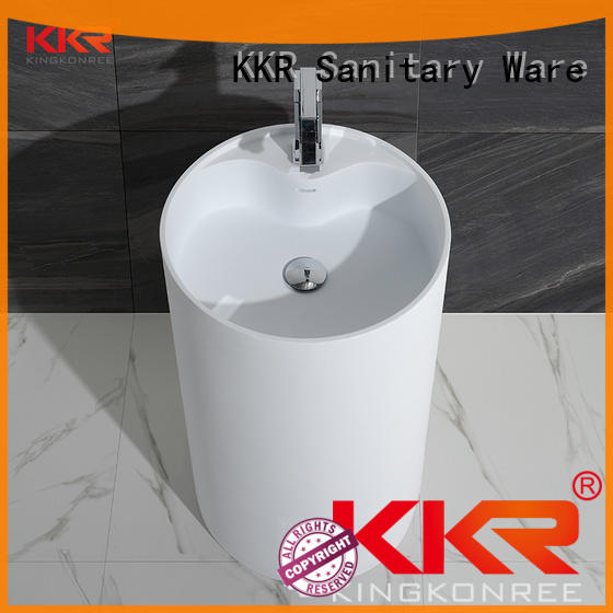 gel freestanding pedestal sink factory price for home KingKonree