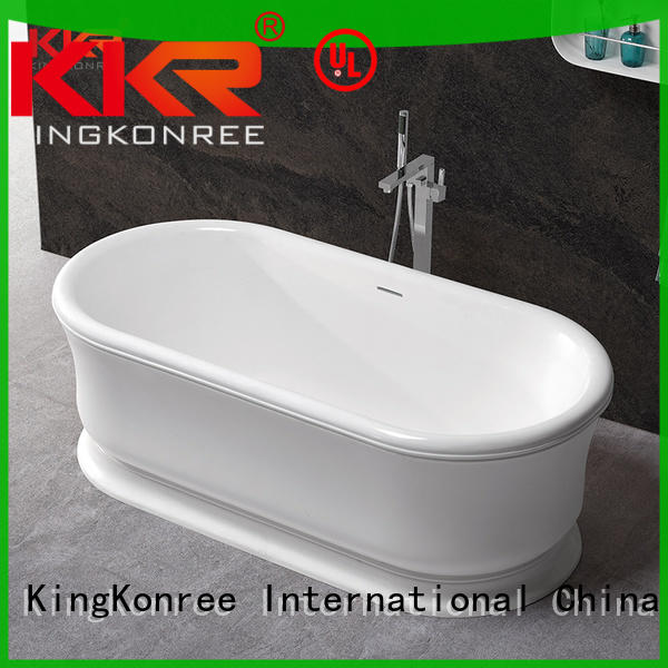 white acrylic freestanding tub ODM for hotel