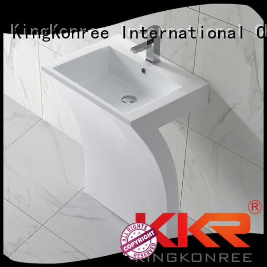 standing white faux ware KingKonree Brand freestanding basin supplier
