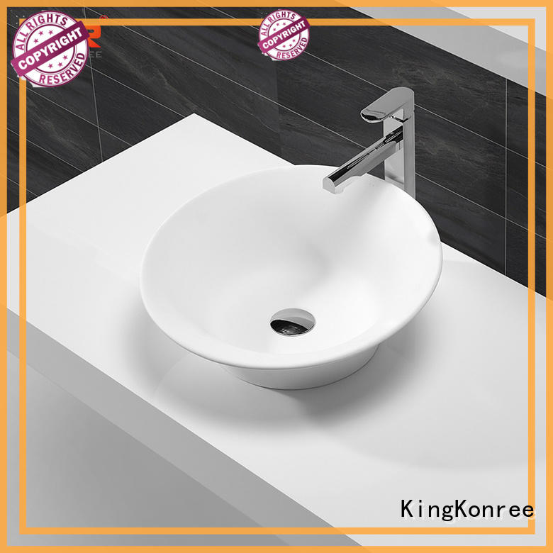 KingKonree top mount bathroom sink supplier for home