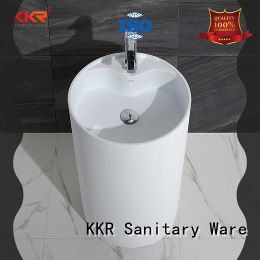 KingKonree standard free standing wash basin supplier for bathroom