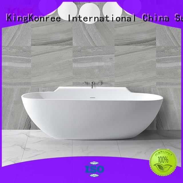 KingKonree on-sale stone resin freestanding bath ODM for hotel