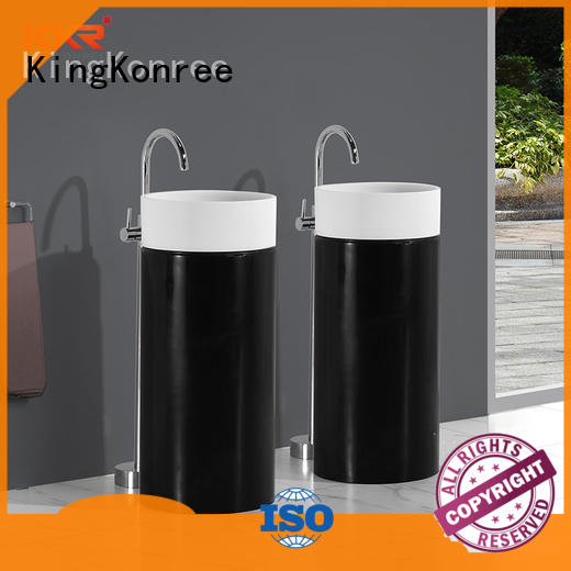 KingKonree height freestanding basin customized for motel