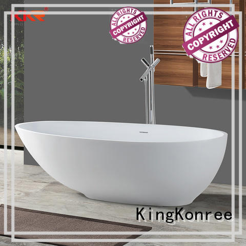 matt freestanding acrylic soaking tubs black for hotel KingKonree