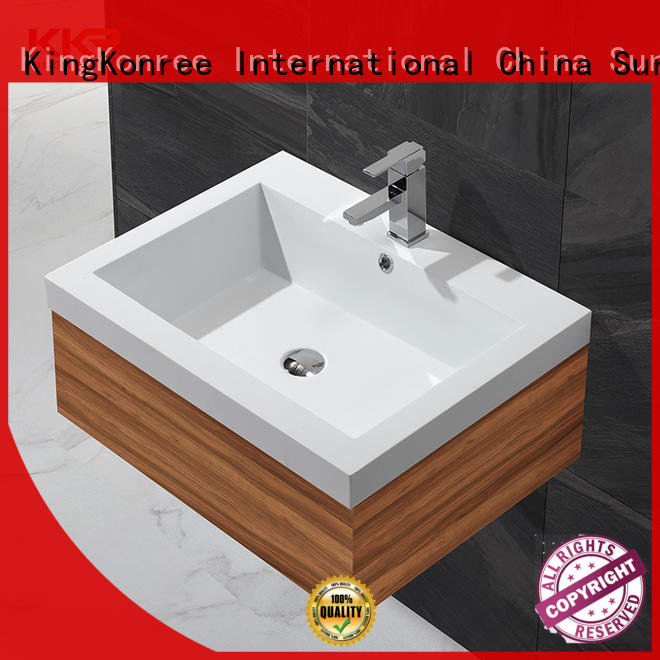KingKonree rectangle toilet wash basin supplier for motel