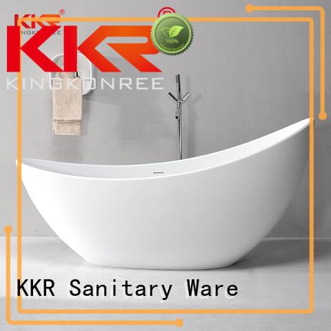 stone resin freestanding bath custom for hotel KingKonree