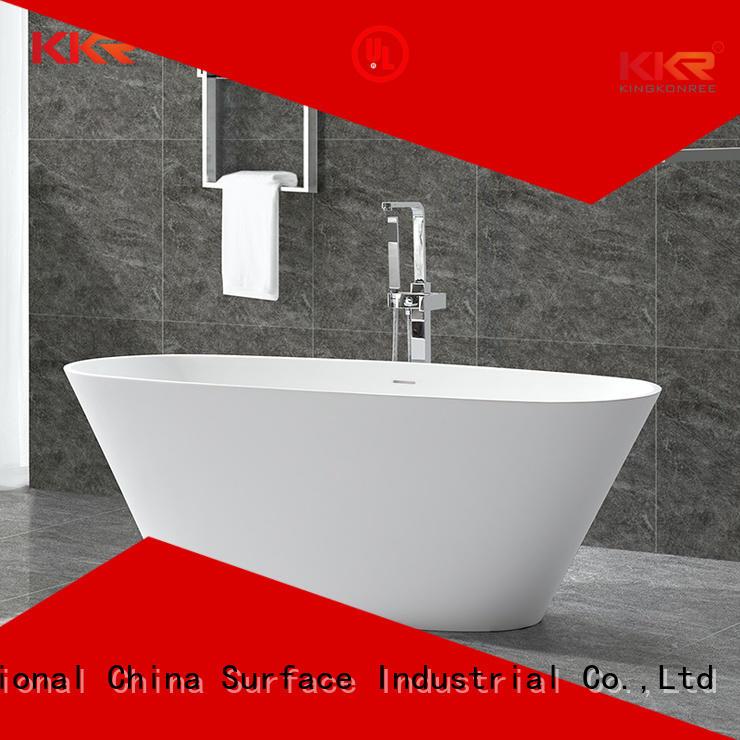 Quality KingKonree Brand black solid surface bathtub