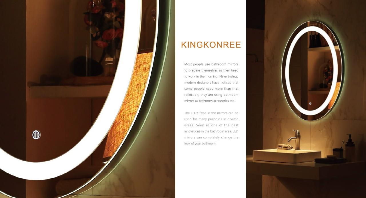 KingKonree large vanity mirror manufacturer for toilet-1