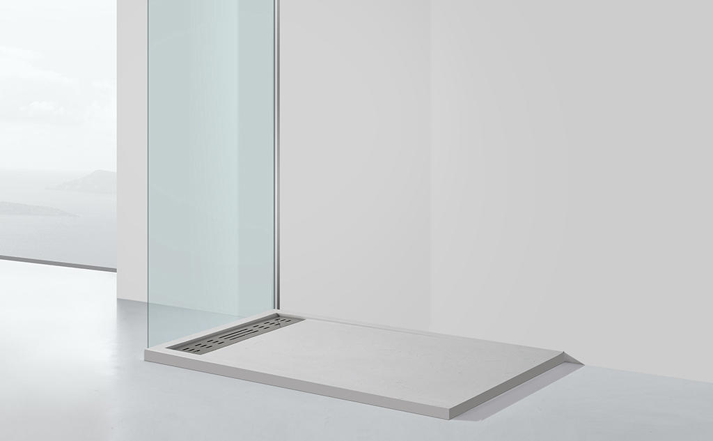 pan shape narrow shower tray at -discount for hotel-1