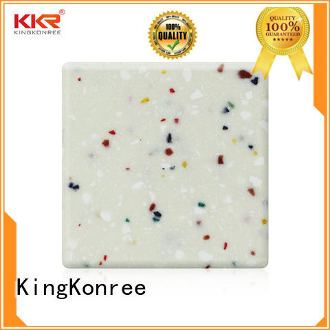 red acrylic solid surface sheet prices grey for hotel KingKonree