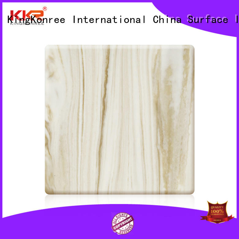 KingKonree marble wholesale solid surface sheets resin for home