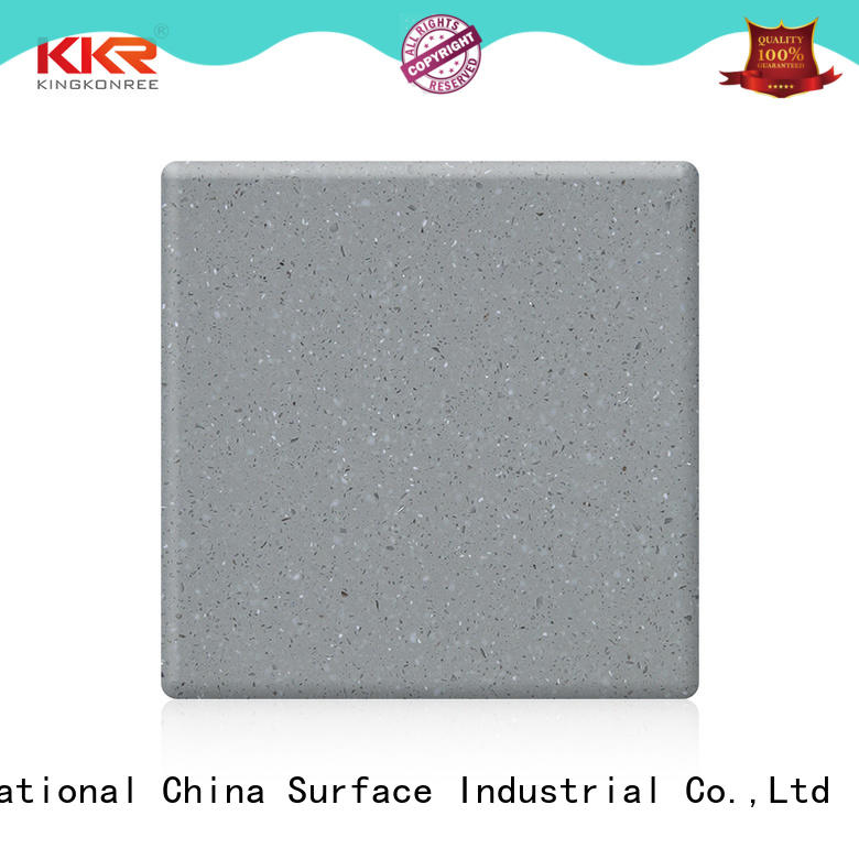 black modified acrylic solid surface plain for room KingKonree