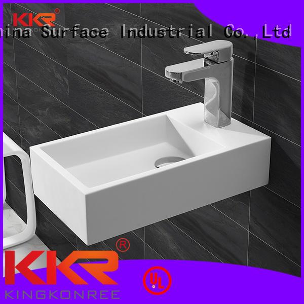 ware selling stone wash KingKonree Brand wall mounted wash basins supplier