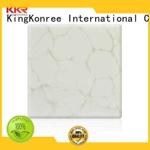 KingKonree acrylic translucent solid surface marble for motel