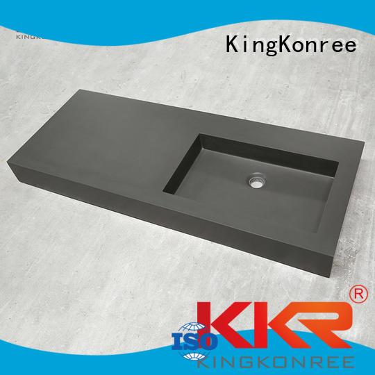 KingKonree Brand slope smooth cloakroom basin with cabine kkr factory