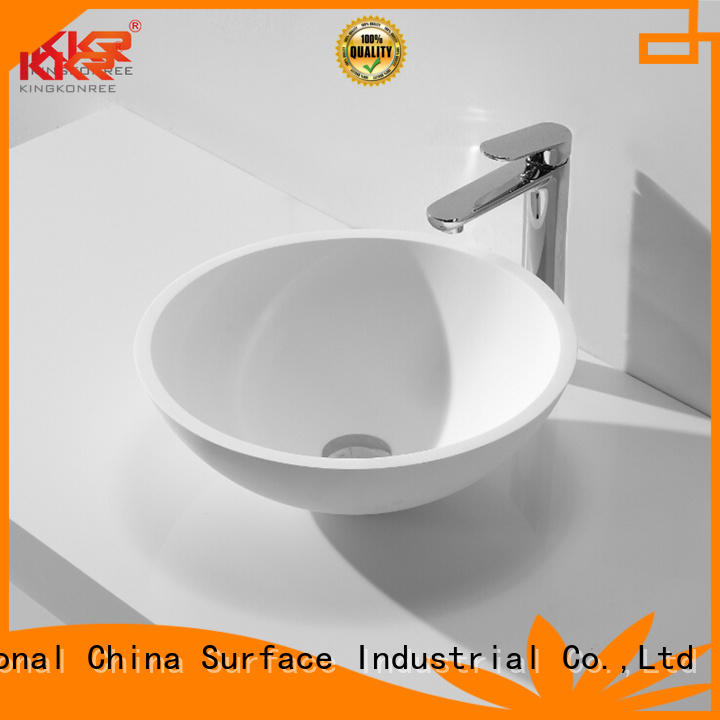 Hot oval above counter basin stone KingKonree Brand