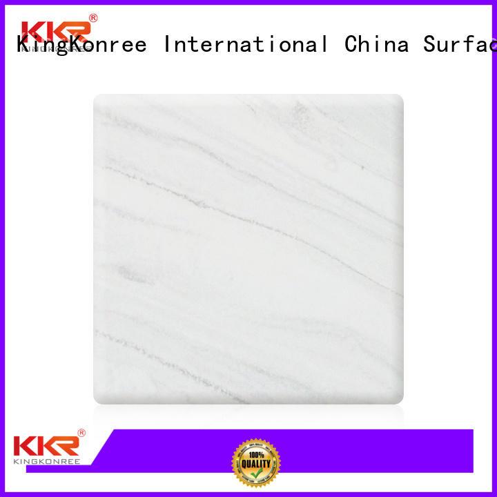 artificial sheets texture solid acrylic sheet KingKonree manufacture