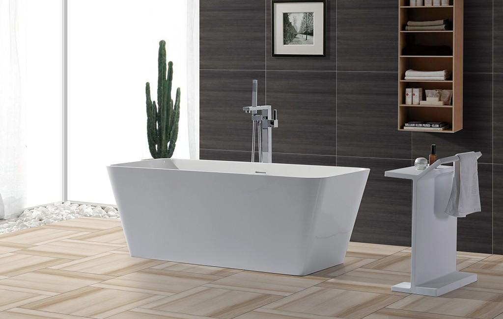 matt acrylic freestanding bathtub free design-1