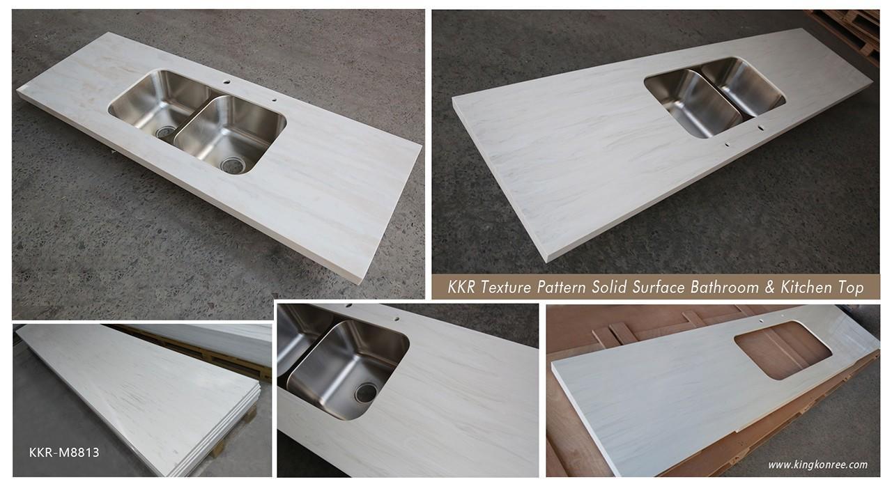KingKonree glossy solid surface worktops manufacturer for hotel-1