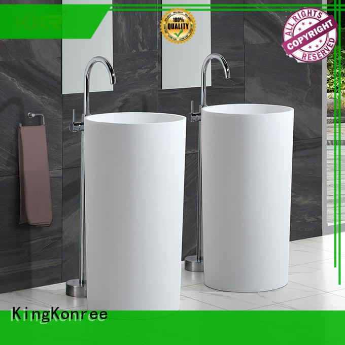 solid bathroom sink stand factory price for hotel