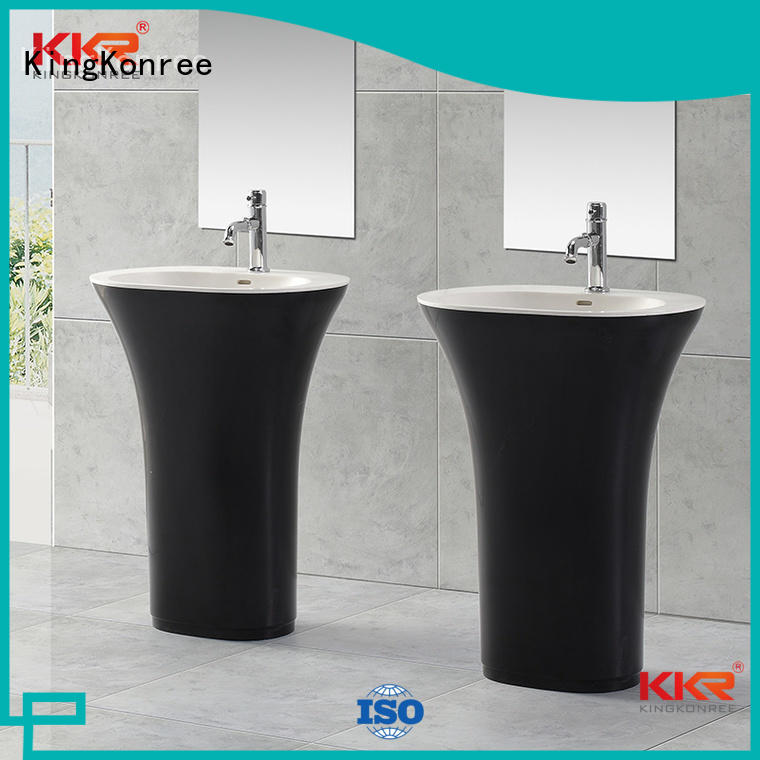 modern pedestal KingKonree Brand bathroom free standing basins