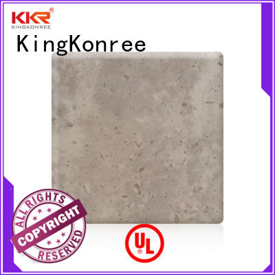 pure solid surface sheets prices customized for hotel KingKonree