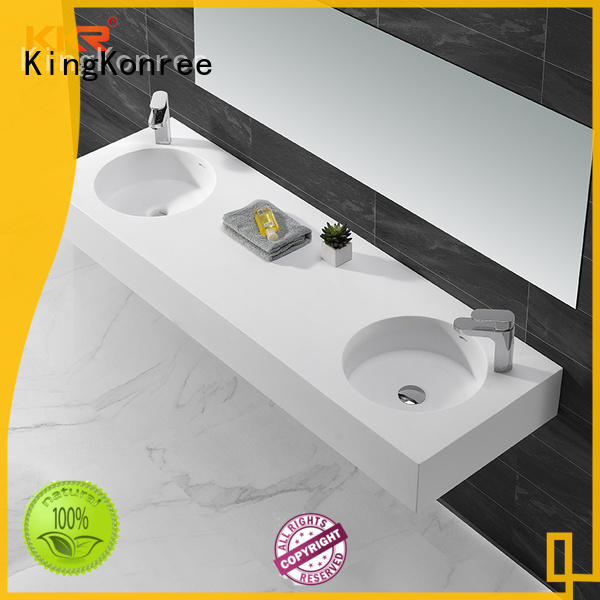 KingKonree wall mounted wash basins design for hotel